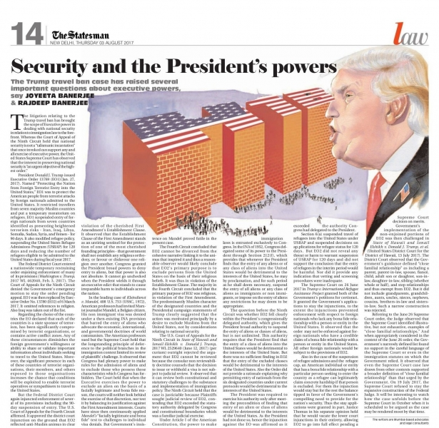Trump_Security and President's powers